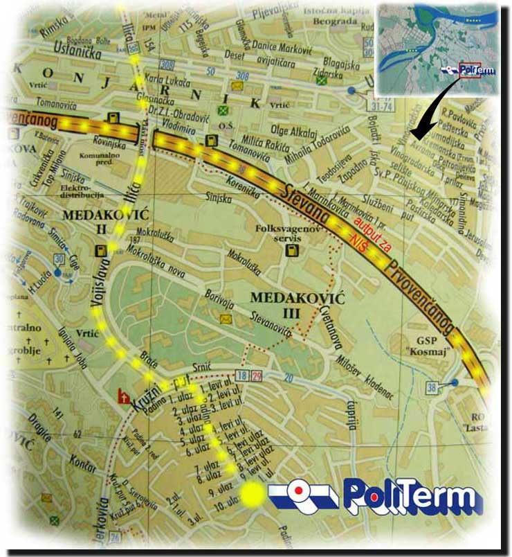 kosmaj mapa Politerm.rs » CONTACT, road MAP kosmaj mapa